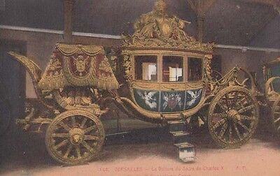 Versailles Charles X Coronation Coach Carriage French France Antique Postcard