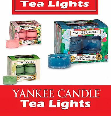 SALE Fragrances 25% OFF !! Yankee Candle Scented Tea Lights Box of 12