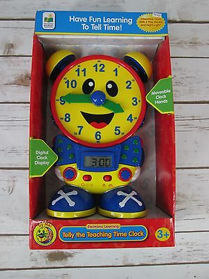 Telly the Teaching Time Clock Primary Color Red Blue Learning Resources NEW