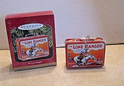 1997 Hallmark Keepsake Ornament The Lone Ranger Tin Lunch Box MIB