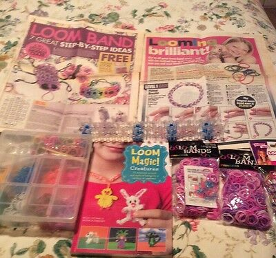 Loom Magic Creatures Loom Bands Book with box loom and loads of new loom bands