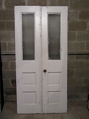~ Antique Double Entrance French Doors ~ 40 X 82 ~ Architectural Salvage ~