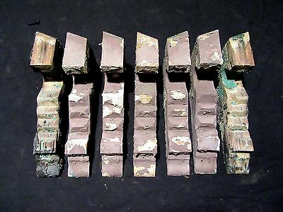 ~ Lot Of 7 Matching Small Corbels ~ 11 Inches Tall ~  Architectural Salvage
