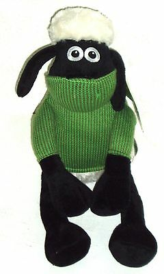SHAUN THE SHEEP WITH GREEN JUMPER 40 cm SOFT TOY A BAAAGAIN WHILST STOCKS LAST)