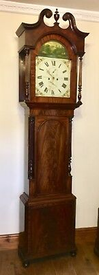 Antique Mahogany Longcase Grandfather Clock James Scott, Kendal