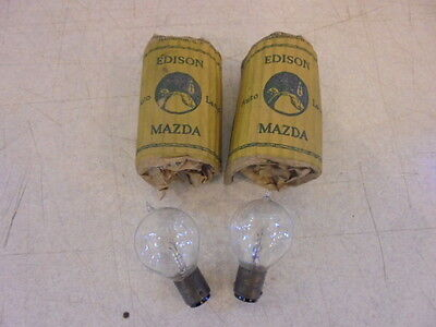 Lot of 2 Vintage NOS Tip Top Edison Mazda Auto Lamp Bulbs