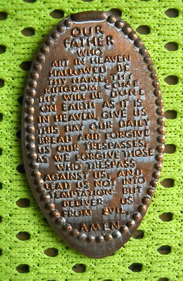 The Lord's Prayer elongated penny USA cent souvenir coin