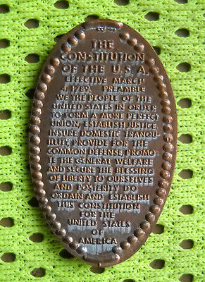 United States Constitution elongated penny USA cent 1789 souvenir coin