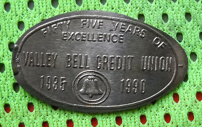 Valley Bell Credit Union elongated penny Elgin IL USA cent 1935 souvenir coin