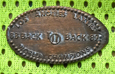 Los Angeles Lakers elongated penny USA cent NBA Champs 1988 1989 souvenir coin