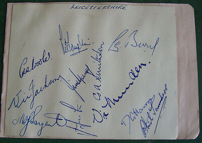 Cricket Autographs 1951 - Northamptonshire CCC - Signed by 10 players