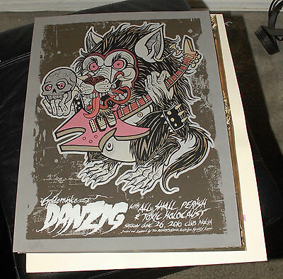 Danzig Limited Edition Poster All Shall Parish La 2010 Autographed Two Rabbits