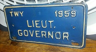 NEW YORK - 1959 Thruway license plate from car of Lt. Governor Malcolm Wilson