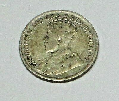 1920 Canadian Quarter  King George V  very good condition  value $9.00