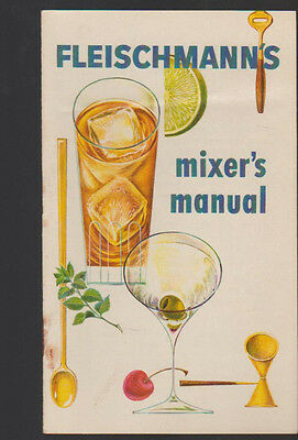 Fleischmann's Mixer's Manual Drink Recipes Booklet
