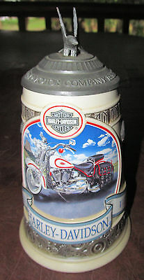 HARLEY DAVIDSON Lidded BEER STEIN~1st in series~Evolution V-Twin Engines Ltd.Ed
