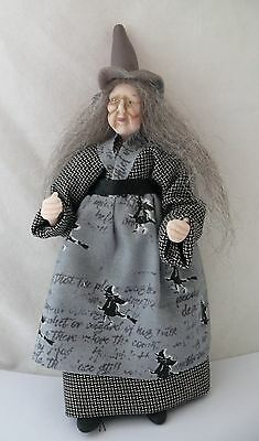 Dolls House Miniature Grey Dress Witch 1-12Th Scale