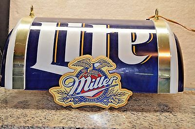 MILLER LITE SIGN HANGING BAR LIGHT Man Cave