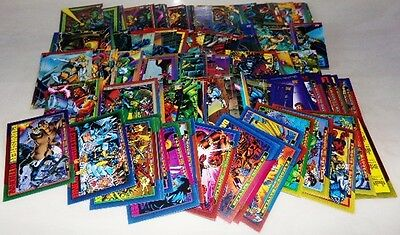 Marvel Comics 1993 Skybox Comic Collector 150 Card Lot No Dupes Nice