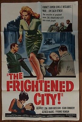 The Frightened City Rare Original US One Sheet Movie Poster Theater Display 1961