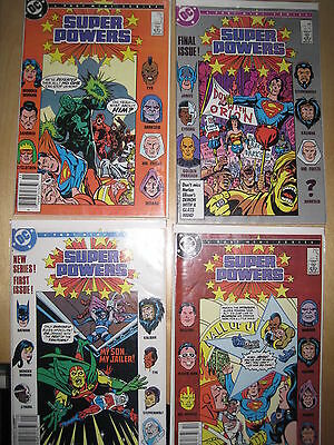 SUPER POWERS :  COMPLETE 4 ISSUE SERIES, CYBORG, BATMAN, WONDER WOMAN et.DC.1986