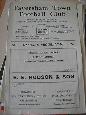 196-61 Faversham Town v Charlton Athletic 'A' Athenian League D1