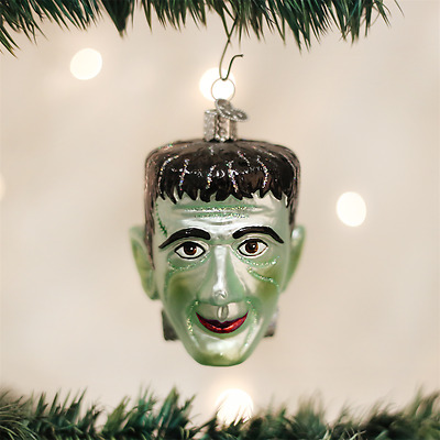 Frankenstein Old World Halloween Hanging Ornament NWT mouth blown glass spooky