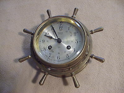 Vintage Salem Ships Bell clock, untested, sold as is
