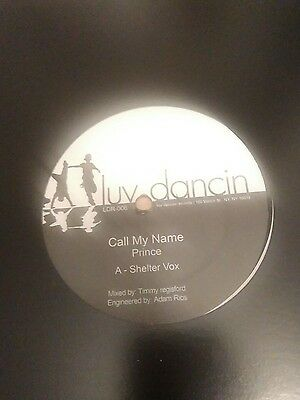 """Prince Call my name 12"""" Vinyl Unofficial Release 2008"""