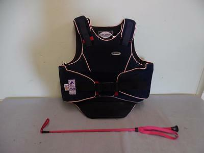 Champion FlexAir Childs Body Protector Short Back - Chest 78 - 84cm & Pink Whip