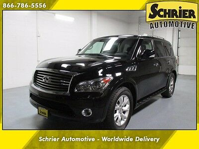 2012 Infiniti QX56 Base Sport Utility 4-Door 12 Infiniti QX56 Black AWD Parking Aid Heated Leather Power Liftgate 20 In Wheel