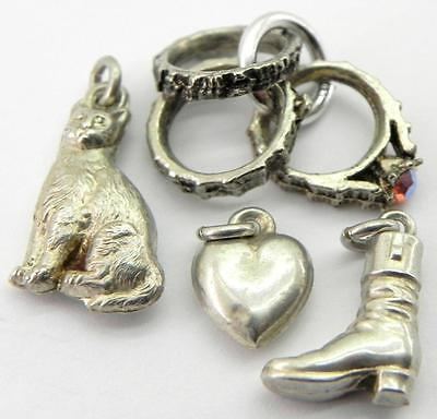Collection of Vintage Silver Bracelet Charms.
