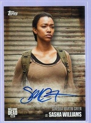 2017 Topps Walking Dead Season 6 . Sonequa Martin-Green as Sasha Auto Autograph