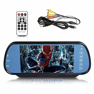 "HD 7"" LED Screen Car (MP5) Player Mirror Monitor For Rear View System+Bluetooth"