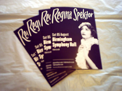 REGINA SPEKTOR - UK TOUR 2017 (4 x PROMO SHOW FLYERS)