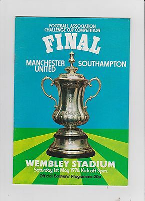 1976 F.A.Cup Final.Manchester United v Southampton.