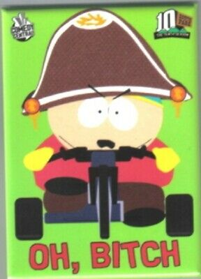 South Park Cartman On Tricycle Saying Oh, Bitch Refrigerator Magnet, NEW UNUSED