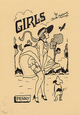 A Girl Girls Name Called Penny Risque Upskirt Limited Edition Glamour Postcard