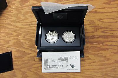 2013 U.s. Mint American Eagle West Point Two Coin Set - Original Box And Coa