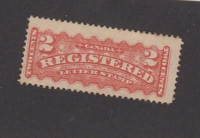 CANADA UNITRADE REF(5)# F1i MLH PALE ORANGE RED 2cts REGISTRATION CAT VALUE $80+