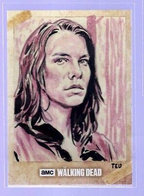 2017 Topps Walking Dead Season 6 .. Ted Dastick Jr. Sketch .. Maggie
