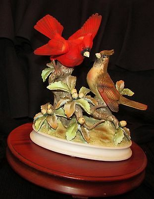 "Vintage Andrea by Sedak Porcelain Ceramic ""Group of Cardinals"" Statue Mint"