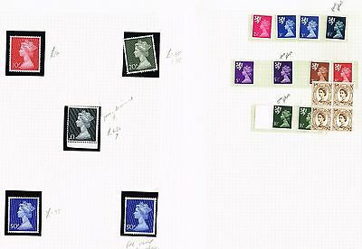 5 Pages Great Britain Qeii Machins Vf Mnh    (Mcr14