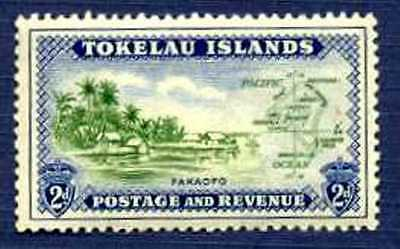 Tokelau Islands-1948-#3-Fakaofo Shore Line & Map-Mnh
