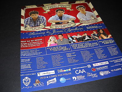 JONAS BROTHERS Martell 11th annual FAMILY DAY 2010 Promo Display Ad mint cond