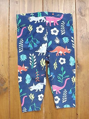 Boden dinosaur floral print navy blue multi coloured leggings in age 3-4 years
