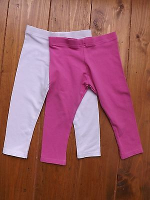 M&S kids set of 2 leggings in pink and white age 3-4 years