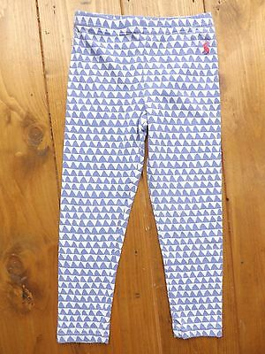 Joules blue and white patterned leggings in age 3-4 years