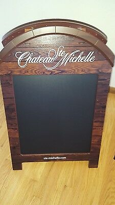 L@@K Chateau st. Michelle wine menu chalkboard restaurant bar Winery Washington