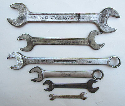 Vintage Whitworth Motorcycle Motor Car Tools Wrench's Spanners Snap On Dowidat +
